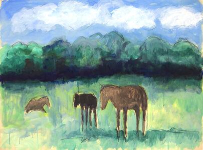 Theodore Waddell, 'Lexington Horses Dr. #5'