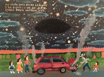 Esther Pearl Watson, 'Ho visto una stella cadente e ho espresso un desiderio', 2017
