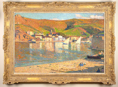 Henri Martin, 'Les collines dominant le port de Collioure', ca. 1923