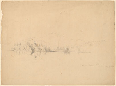 Homer Dodge Martin, 'Upper Saranac Lake', 1861