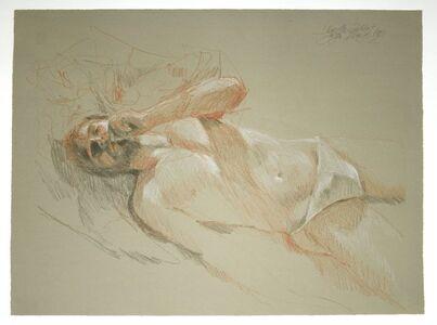 Jürgen Draeger, 'Mann auf dem Bett mit Joint', 1982