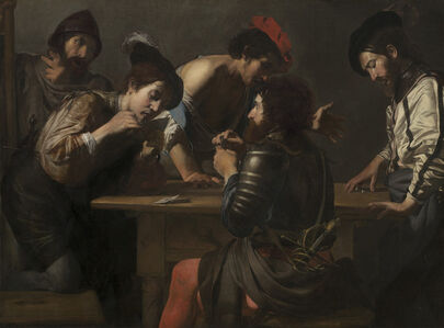 Valentin de Boulogne, 'Soldiers Playing Cards and Dice (The Cheats)', ca. 1618/1620