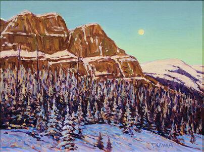 William Duma, 'landscape with full moon (33-19)', 2019