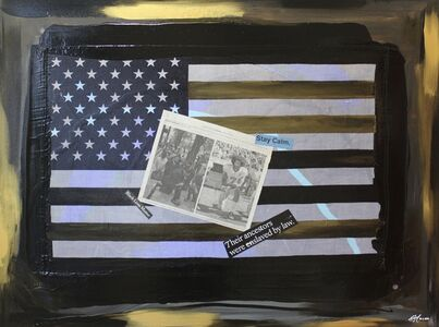 """Ligel Lambert, 'Work # 25, """"The Peaceful Protest Against a Racist System.""""', 2020"""