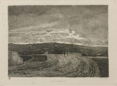 Telemaco Signorini, 'Novembre', 1871