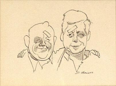 David Levine, 'Khrushchev and Kennedy', 1963
