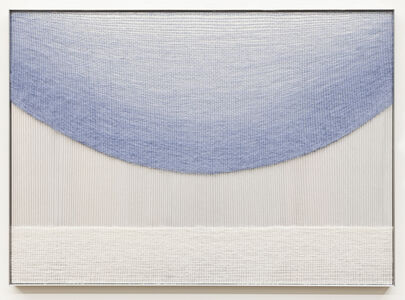 Mimi Jung, 'Pale Blue Ellipse and White Rectangle', 2019