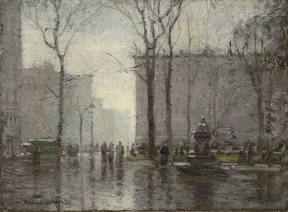 Paul Cornoyer, 'Rainy Day, New York City, Madison Square Park ', ca. 1910