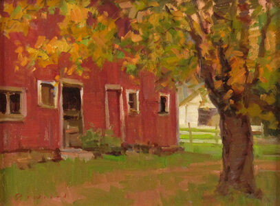 Ken DeWaard, 'Red Barn in Autumn', ca. 2015