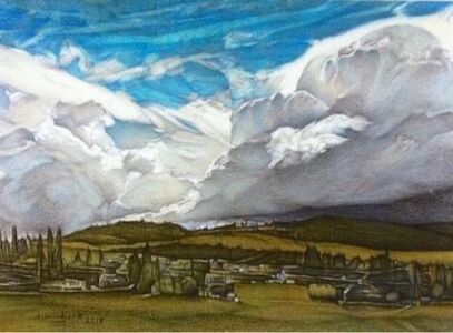 Darrell Windjack, 'Unsettled skies ', 2018