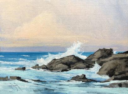 Ben Bauer, 'Fort Bragg Rocks and Water', 2020