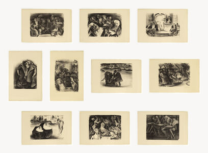 Adolf Arthur Dehn, 'Paris Lithographs ', 1928