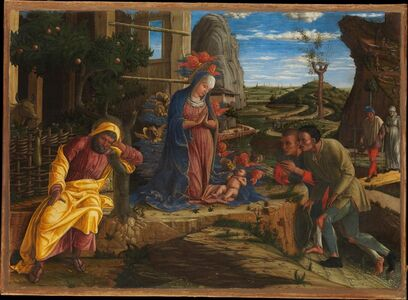 Andrea Mantegna, 'The Adoration of the Shepherds', ca. 1450