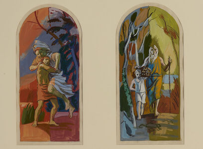 Hans Feibusch, 'Six Scenes from the Old Testament: Jacob Wrestling with the Angel', n.d.