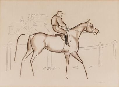 John Rattenbury Skeaping, 'Horse and Jockey', 1932