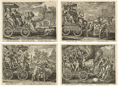 Adriaen Collaert, 'The Divine Charge to the Three Estates. After M. de Vos', ca. 1585-86