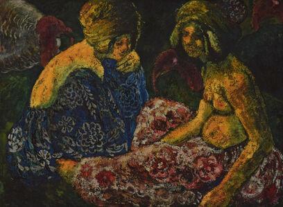 Georges Manzana-Pissarro, 'Scène Orientaliste, Deux Femmes Assises et Dindons', ca. 1910