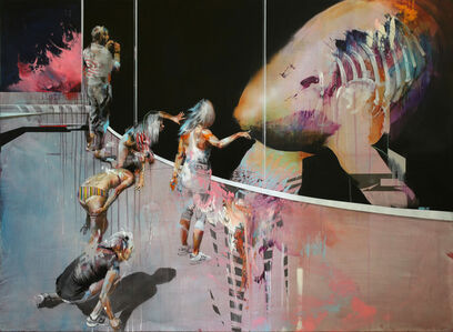 Ian Francis, 'A Group of People Try to Communicate With a New Artificial Whale', 2019