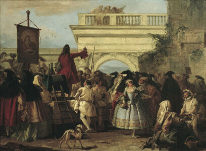Giovanni Domenico Tiepolo, 'The Charlatan', 1756