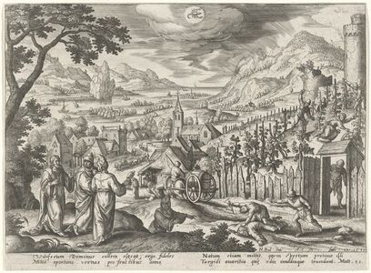 """Adriaen Collaert, '""""... The Kingdom of God shall be taken from you ..."""" (Scorpio)', 1585"""