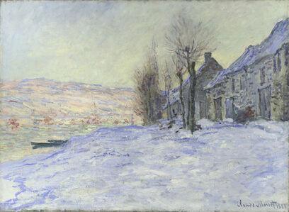 Claude Monet, 'Lavacourt under Snow', about 1878-1881