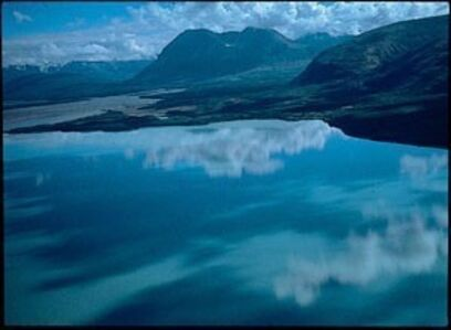 Robert Glenn Ketchum, 'Iliuk Arm of Naknek Lake looking toward the mouths of Ukak and Savonoski Rivers Katmai National Park and Preserve'