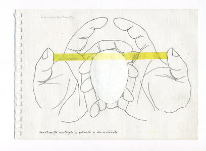 Pavel Ilie, 'Multiple constructions with hands and two objects', ca. 1975