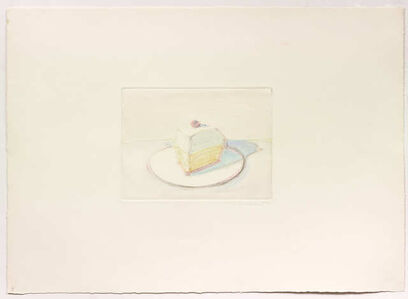 Wayne Thiebaud, 'Untitled (Pie Slice)', 1977