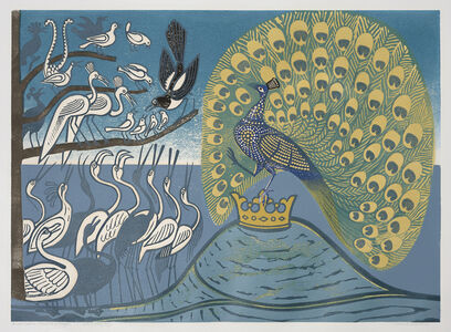 Edward Bawden, 'Peacock and Magpie', 1970