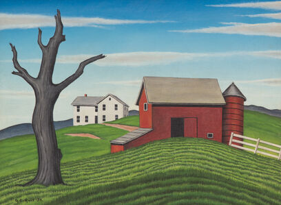 George Copeland Ault, 'Hilltop Farm', 1939