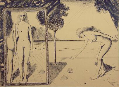 Paul Delvaux, 'The Beach', 1972