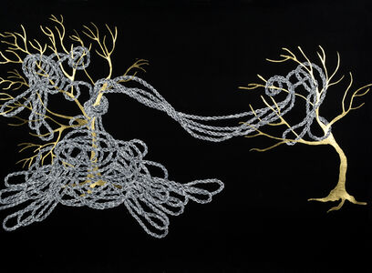 """Crystal Liu, 'the fray, """"roped in""""', 2013"""