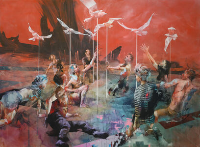 Ian Francis, 'At the Beach, People try to Get Closer to the Birds', 2019