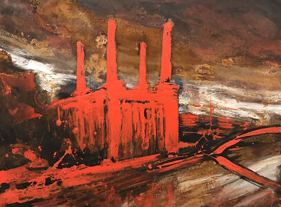 Alessandro Busci, 'Power Station rosso', 2017