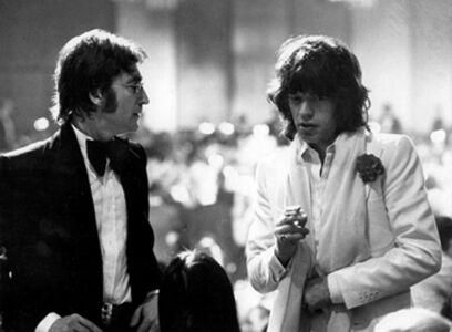 Ron Galella, 'John Lennon and Mick Jagger, Los Angeles, California', 1974