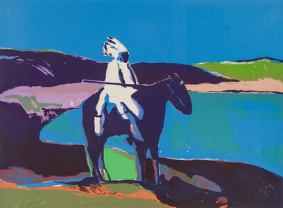 Fritz Scholder, 'Indian at the Lake'