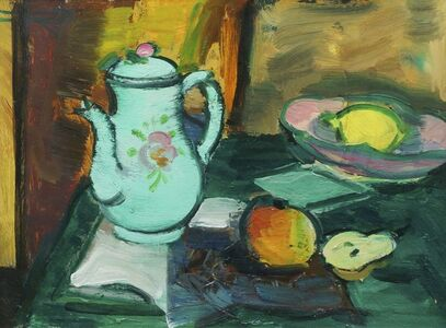 Anne Estelle Rice, 'Still Life With Coffee Pot', c.1912
