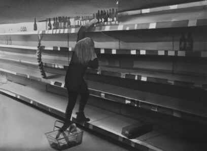 Radenko Milak, 'Emptied shelves at supermarket, March 25, 2020 in Chippenham, United Kingdom', 2020