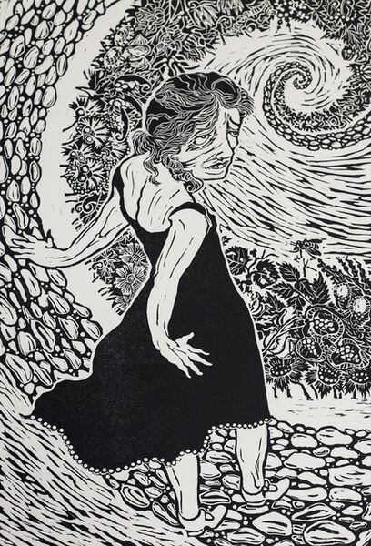 Judith Schaechter, 'Swan Dive', 1996