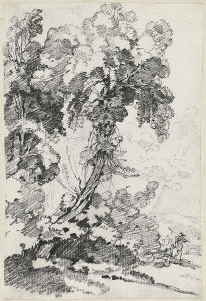 Joseph-Marie Vien, 'A Towering Tree with Travelers', 1746/1749