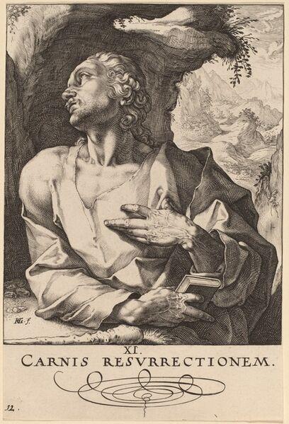 Hendrik Goltzius, 'Saint Jude', probably 1589