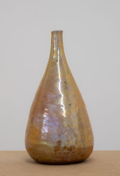 Beatrice Wood, 'Untitled (Gold luster tear drop bottle)', ca. 1975