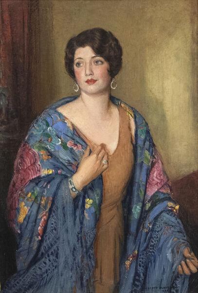 Joseph Kleitsch, 'Portrait of Ruth E. Bach', 1930
