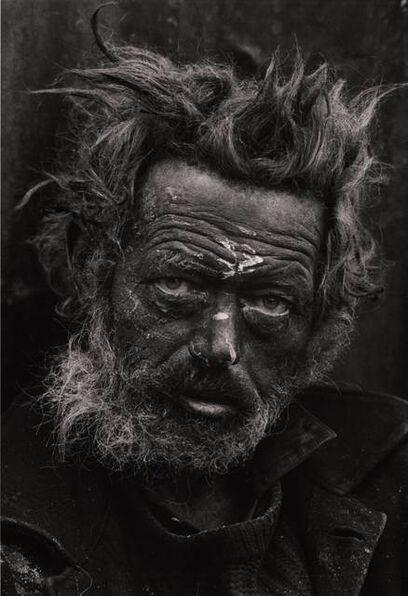 Don McCullin, 'Tormented, Homeless Irishman, Spitalfields, London, UK', 1969