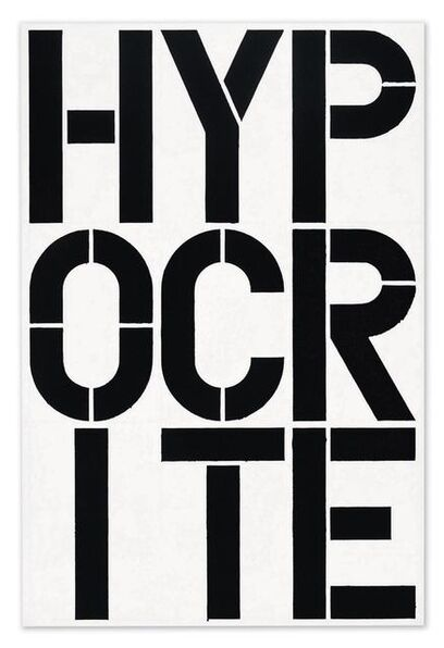 Christopher Wool, 'Hypocrite', 1989