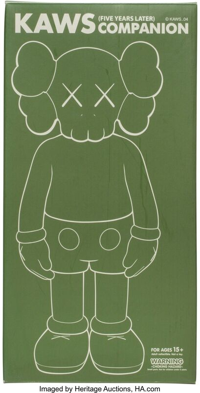 KAWS, 'Companion, Five Years Later (Glow in the Dark)', 2004, Sculpture, Cast vinyl, Heritage Auctions