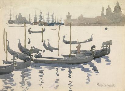 Maurice Brazil Prendergast, 'The Gondolas, Venice', 1898-1899
