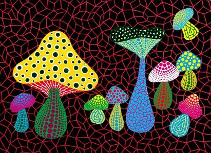 Yayoi Kusama, 'Mushrooms', 2005