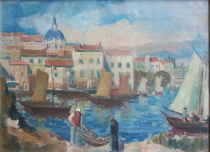 Jacob Steinhardt, 'The Dalmatian Port ', 1928