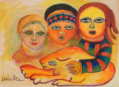 Mirka Mora, 'Three Women Of Mystery', ca. 1985